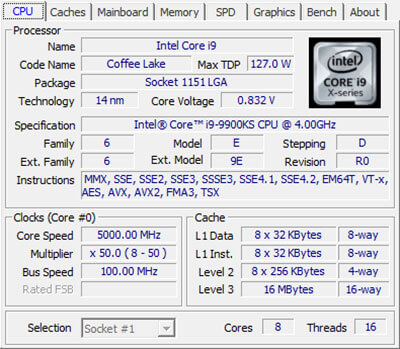 Download CPU-Z 1.94 latest version