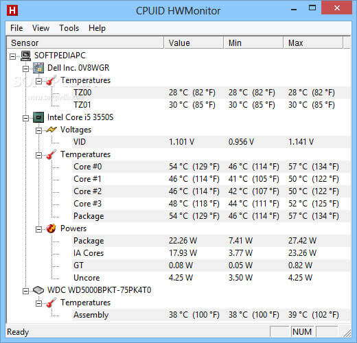 reliable CPU temperature monitor for Windows 10