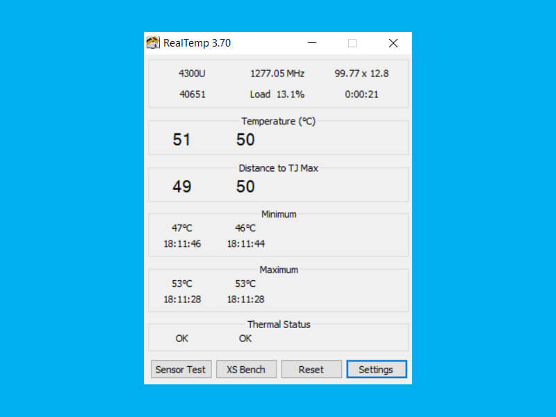 Intel check cpu temperature settings