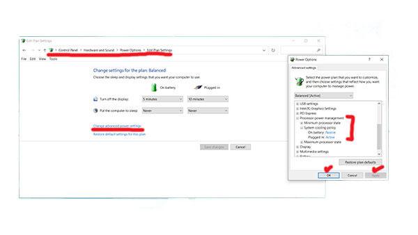 Change laptop fan speed using control panel