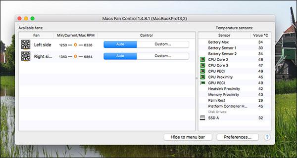 Monitor Mac's Fans Speed
