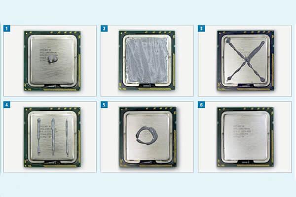 Method to apply thermal paste on CPU