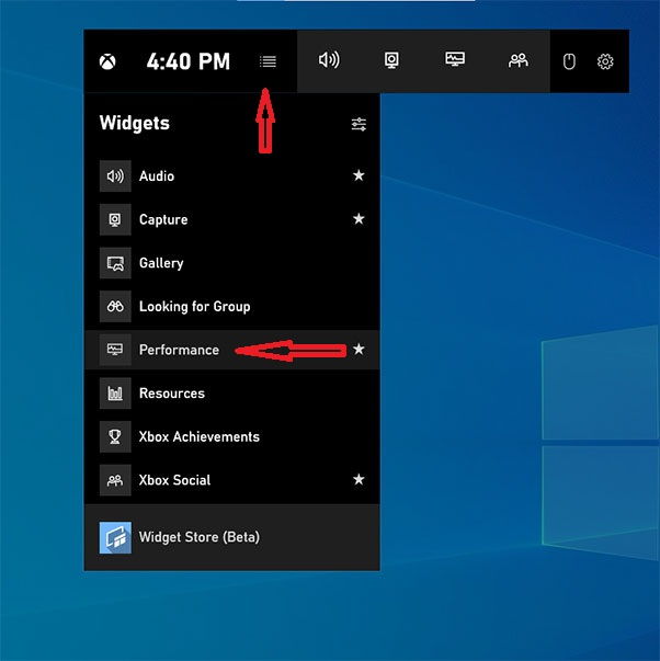 monitor FPS while playing game on Windows 10