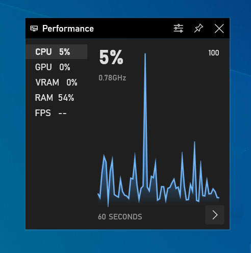 how to use Built-in Windows 10 FPS counter?