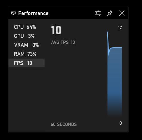 Windows built-in FPS meter