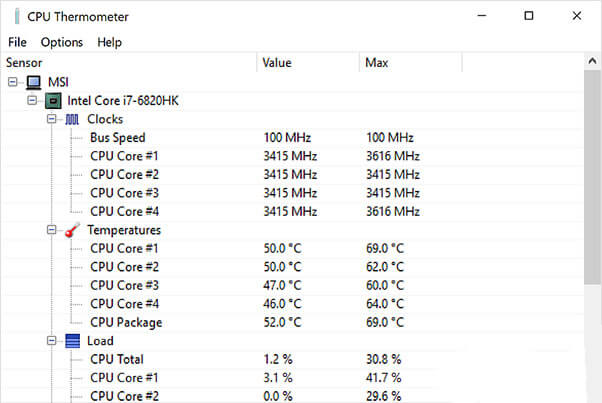 CPU Thermometer for Windows 10