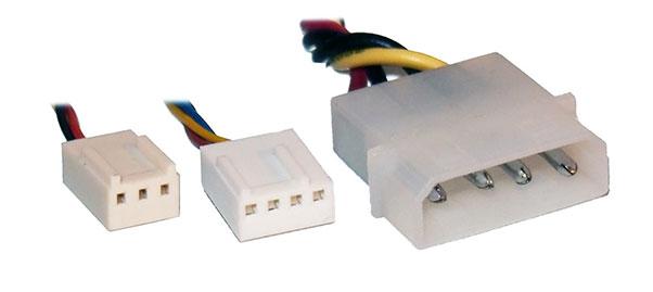 3-Pin 4-Pin Molex Fan Connector that let you control fan speed manually.