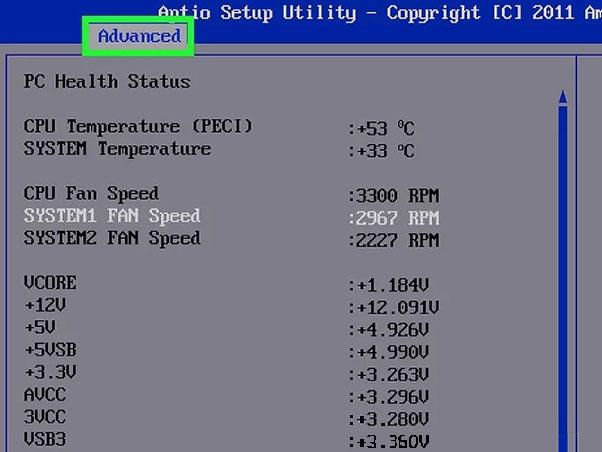 How to change fan speed in bios windows 10